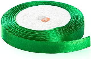 Solid Color Satin Fabric Ribbon (Green, 3/8