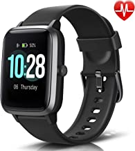 LETSCOM Fitness Tracker with Heart Rate Monitor, Smart Watch, Activity Tracker, Step Counter, Sleep Monitor, Calorie Counter, 1.3 Touch Screen, IP68 Waterproof Pedometer Watch for Kids Women Men