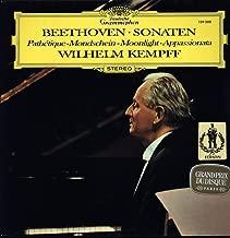 Beethoven - Wilhelm Kempff - Sonaten - Pathetique - Mondschein - Moonlight - Appassionata - Deutsche Grammophon - 139 300 Near Mint (NM or M-)/Near Mint (NM or M-) LP