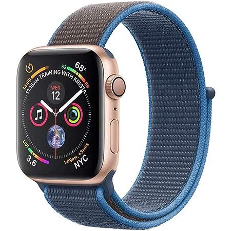 METEQI バンド 対応 Apple Watch,しいナイロン スポーツループバンド ストラップ 交換バンド for Apple Watch Series SE/6/5/4/3/2/1 (38mm/40mm, サーフブルー)