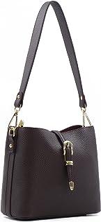Montana West Montana West Faux Leather Hobo Shoulder Bag for Women Fashion Buckle Handbag With Long Strap Crossbody Purses