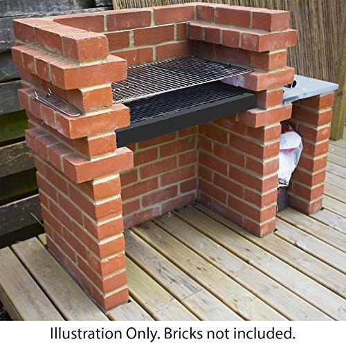 Marko Outdoor Brick BBQ DIY Kit Charcoal Barbecue Chrome...