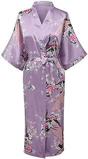 Oversize Bride Bridesmaid Wedding Robe Women Kimono Bathrobe Gown Print Home Clothes