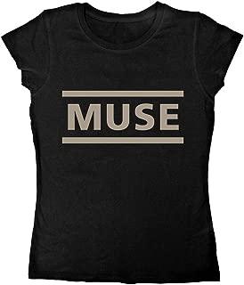 Ladies Muse Logo Matt Bellamy Rock Heavy Metal Official Tee T-Shirt Womens Girls