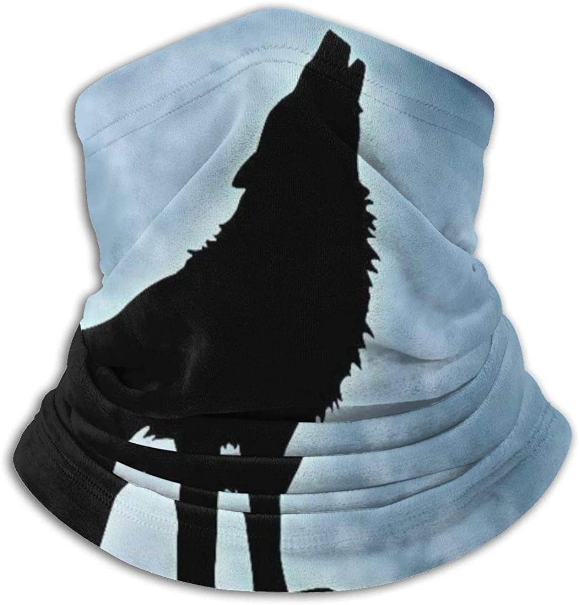 Howling Wolf Neck Gaiter Headwear Headband Head Wrap Scarf Mask Neck/Ear Warmers Headbands Perfect For Winter Fishing, Hiking, Running, Motorcycle Etc& Daily Wear For Men And Women
