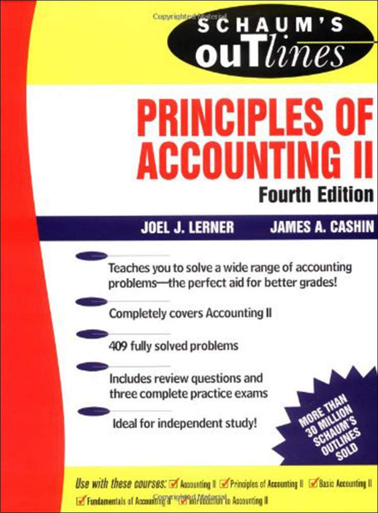 Image OfSchaum's Outline Of Principles Of Accounting II