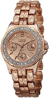 Burgi Womens Quartz Watch, Analog Display and Stainless Steel Strap BUR117RG