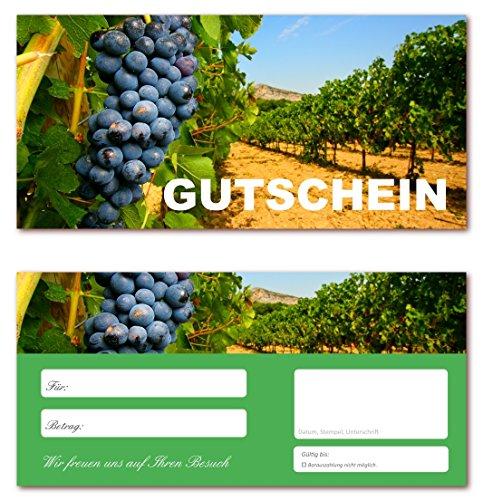 20 Stück Geschenkgutscheine (Wein-620) Gutscheine Gutscheinkarten für Bereiche wie Gastronomie, Weinhandel, Restaurant, Getränkehandel