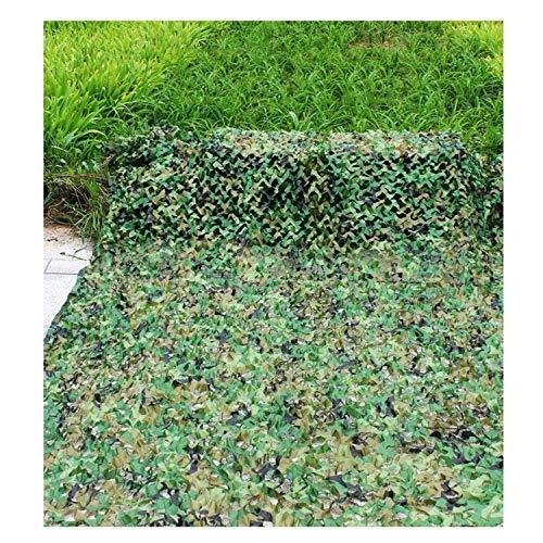 Außen Schatten Militär Tarnnetz, Balkon Shade Net Live-Action-CS Spiel Dekoration Net Außen Dschungel Tarnnetz Pflanze Blume Schutznetz Anti-UV-Netzwerk Dschungel versteckt (Größe: 6 * 8 m) ZHANGKANG