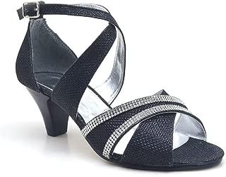 Sarıkaya Taşlı Parlak Siyah Topuklu Kız Çocuk Abiye Ayakkabı