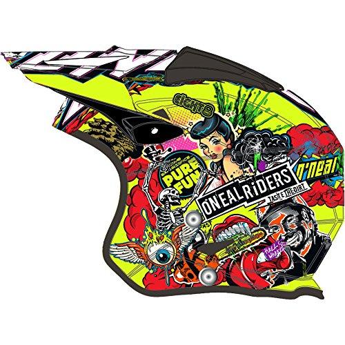 O\'NEAL | Motorradhelm | Enduro Street Adventure | Leichte Fiberglas-Außenschale, herausnehmbares & waschbares Innenfutter, Magnetverschluss | Slat Helmet Crank | Erwachsene | Neon-Gelb | Größe M