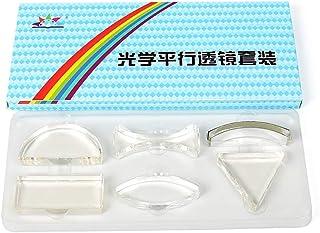 DollaTek Physique Optique Ensemble de lentilles parallèles lentille ménisque Prisme Triangulaire lentille Acrylique lentil...
