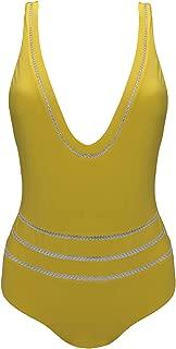 La Perla Yellow Sequined One Piece Swimsuit 6