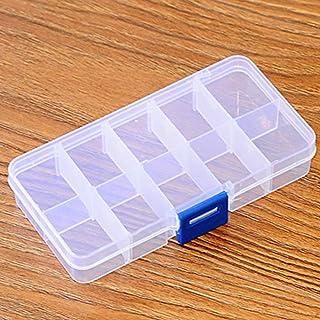 Caja Multifuncional Decoraciones Moda Soporte Plástico Funda Transparente Durable Mini Organizador de Joyas Pendientes Contenedor Accesorios