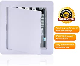 Suteck Plastic Access Panel Drywall Ceiling - 8 x 8 Inch White Access Doors