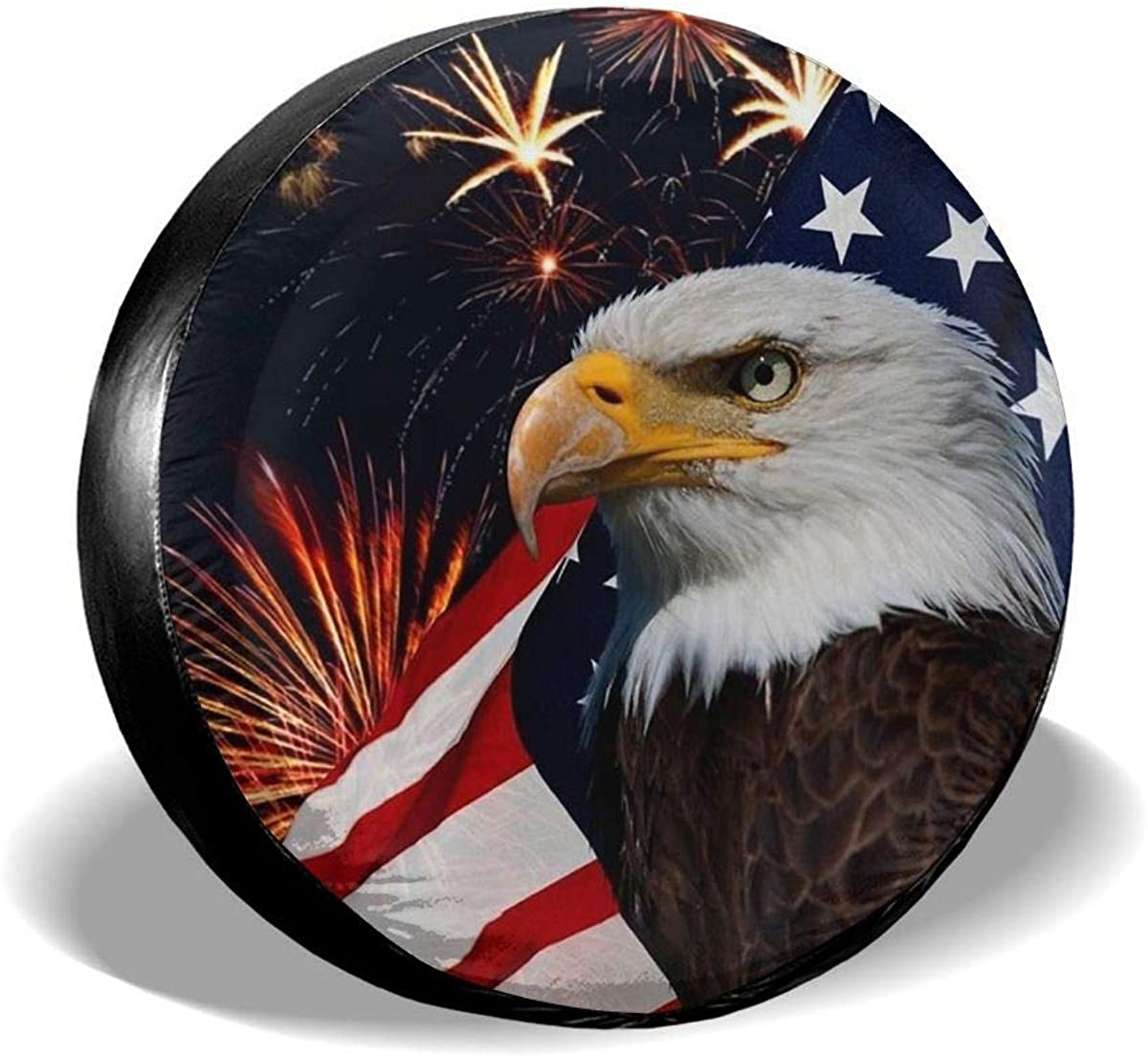 Jackmen Spare Tire free Max 83% OFF shipping Cover American Universal Flag Polyester Eagle