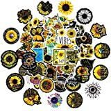 50Pcs You are My Sunshine Sunflower Vinyl Stickers Decals for Laptop Water Bottle Bike Skateboard...