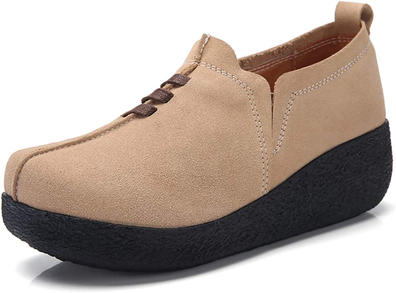GZTEESER Women's Platform Slip on Loafers Comfortable Walking shoes