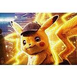 LGBCK Rompecabezas clásico Detective Pikachu 1000 Piezas de Rompecabezas Equipo Familiar Juego de Rompecabezas desafiante Juguete de descompresión Intelectual Educativo 75x50cm