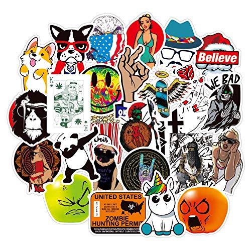 Ligoi 50 stuks/vele gemengde cartoon klassieke mode merk PVC speelgoed stickers waterdicht cool leuk voor laptop koffer mobiele telefoon