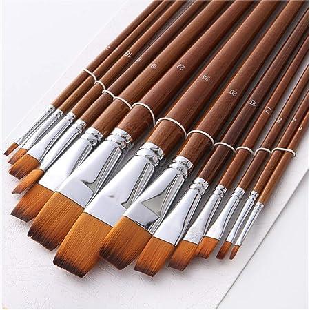 Tarente 10pcs Pinceau Set Forme diff/érente en Nylon Cheveux Aquarelle Peinture Acrylique Pinceau