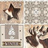 Tovaglioli di carta monouso, Inverno , 20 pezzi 3 strati - 33 x 33
