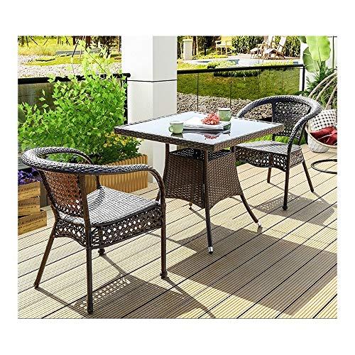 DYYD Juegos de Muebles de jardín Rattan Muebles de jardín Juegos de Patio Mesa y sillas Juegos de Patio al Aire Libre de Interior del Invernadero for el jardín al Aire Libre Junto a la Piscina