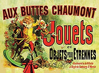 PalaceLearning Jouets Poster  as seen in Monica s Apartment on Friends  - Aux Buttes Chaumont Jouets by Jules Cheret 1885 - Vintage Art Print  Laminated 18  x 24