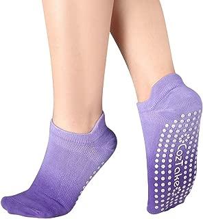 Women's Yoga socks with Grips for Pilates Barre Ballet Dance Non Slip Socks Ombre