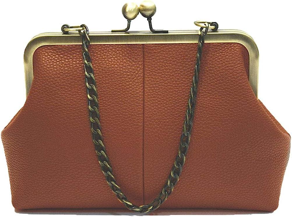 1920s Style Purses, Flapper Bags, Handbags Abuyall Women Retro Purse Vintage Top Handle Handbag Kiss Lock Shoulder Bags  AT vintagedancer.com
