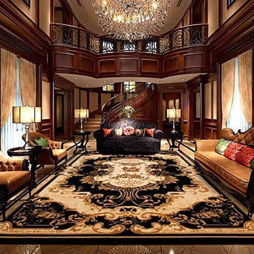 BAGEHUA Tamaño Personalizado 1,5 millones de alfombras turcas agujas salón sofá mesa de café dormitorio alfombra grande, 160cmx230cm, 8499 negro