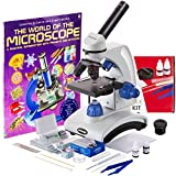 AmScope 40X-1000X Beginners Microscope Kit for Kids & Students...