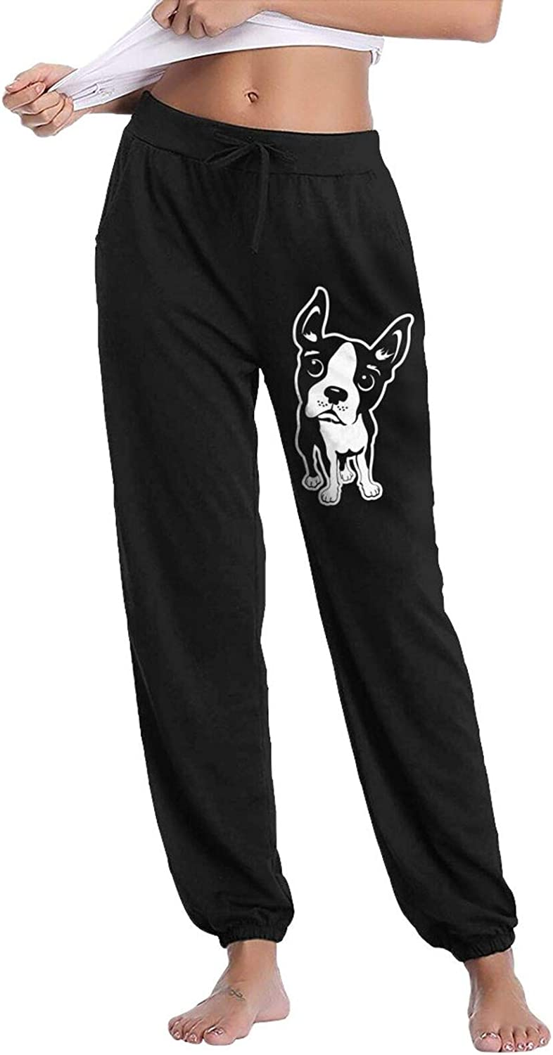 Rajapamiey Boston Challenge the lowest price Terrier Dog Womens Sweatpan Active Long half Casual