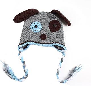 d6a02c771f3 BIBITIME Handmade Baby Knit Dog Hat Puppy Ear Beanie Knitted Cap Braid  Earmuffs