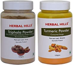 Herbal Hills Triphala and Turmeric Powder 100 GMS Each for Natural Health Management