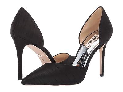Badgley Mischka Lola (Black Indian Silk) High Heels