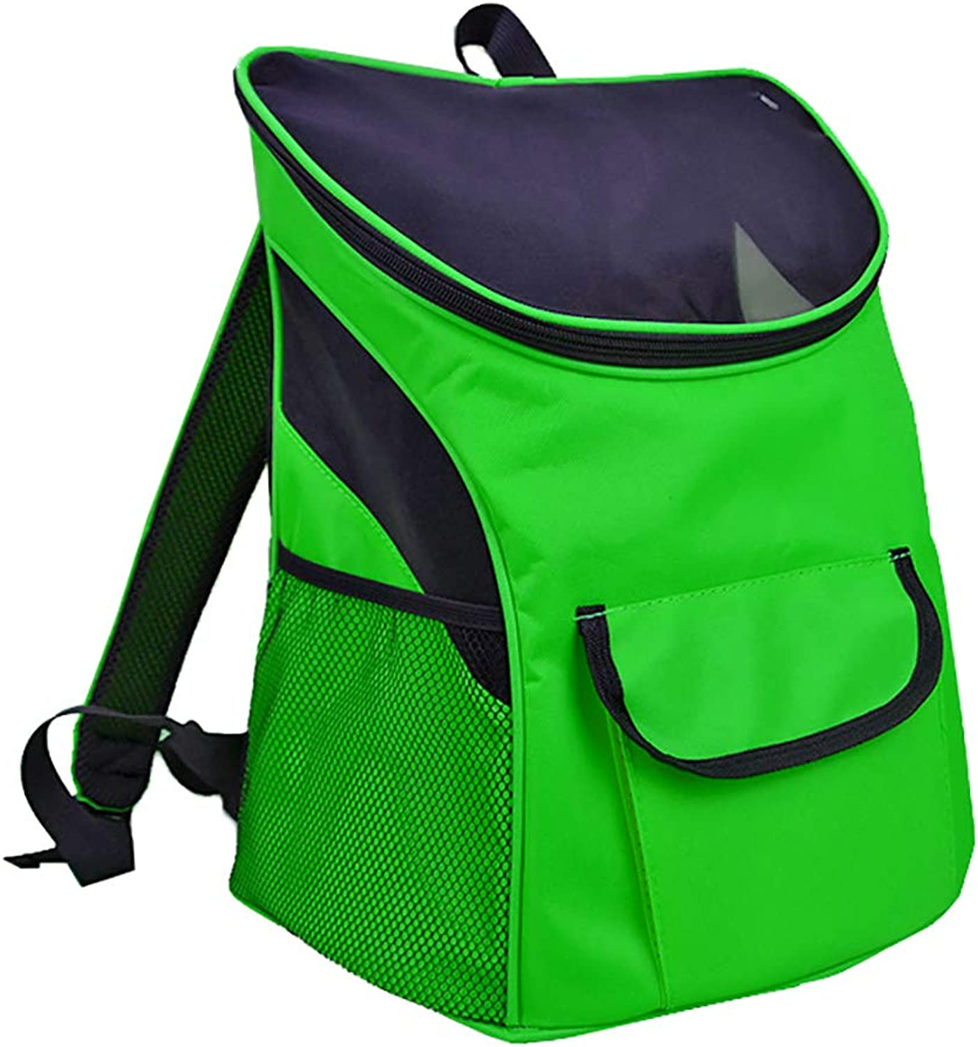 Cat and Dog Backpack, Portable MultiFaceted Breathable Shoulder Bag, Pet Backpack Suitable for Outdoor Travel   Climbing, 2 Size Optional,Green