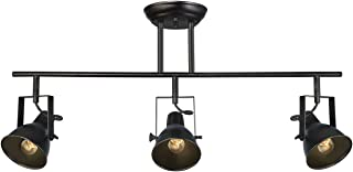 LALUZ A03159 Black Track Lighting Fixture 28 inches Modern Ceiling Spotlight, 3 Heads