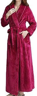 3999aeb35e895 GODGETS Peignoir Femme Velours Robe de Chambre Polaire Chaud Long Flanelle  Peignoir de Bain Homme Eponge