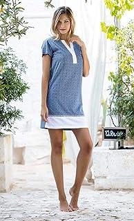 9d882213ac JADEA Abito Camicia da Notte Pigiama Jadea in Cotone Fantasia Geometrica  Orientale Art. 3082