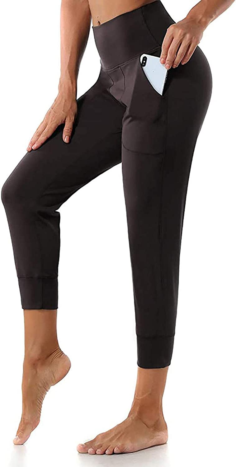 AODONG Yoga Pants for Women with Pockets,High Waisted Yoga Leggings Buft Lifting Fitness Sports Running Leggings