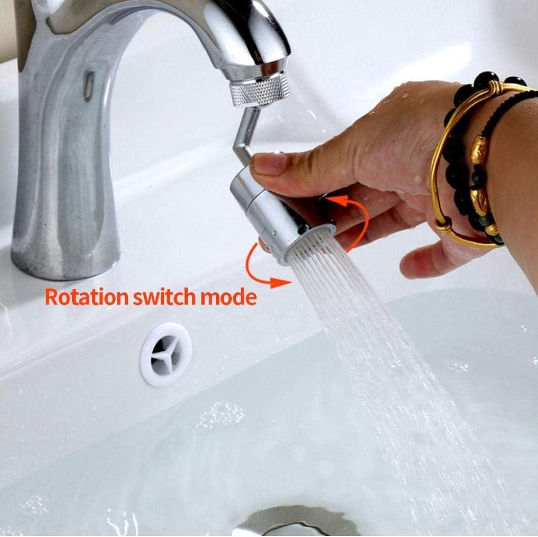 ba/ño grifo montado para lavarse la cara Universal Splash filtro del grifo de la boquilla haga g/árgaras y los ojos Flush 720 /° rotativo del grifo de extensi/ón del suplemento rosca exterior