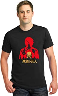 CupidStore Anime Half Sleeves T Shirts - Attack On Titan Cotton Half-Sleeves Tshirt for Mens