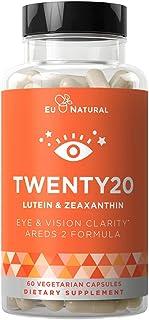 Twenty20 AREDS 2 Eye Vitamins – Macular Health, Eye Strain, Dry Eye and Vision Health – Lutein Zeaxanthin, & Bilberry Extr...