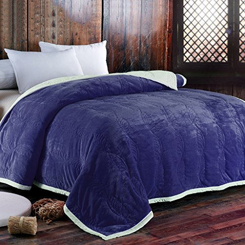 Wddwarmhome Couverture Bleue Chaude de Salon avec la Couverture de Sofa Couverture de lit de Chambre Douce et Confortable Couvertures (Taille : 150 * 200cm)