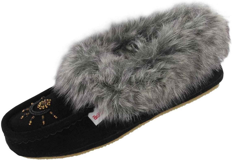 SoftMoc Women's Cute Faux Me Crepe Sole Faux Fur Moccasin