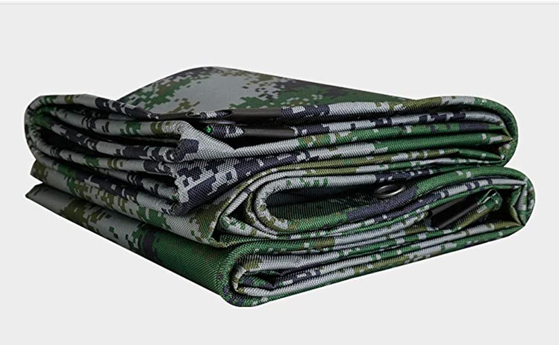Bache Robuste résistant à l'eau Bache de Camouflage Robuste PS 4 x 3 m Camo tarps pour la Tente imperméable de Camouflage de Toit de
