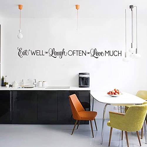 Eat Well Laugh Often Love Much Wall Stickers Decals Kitchen Home Decor Dining