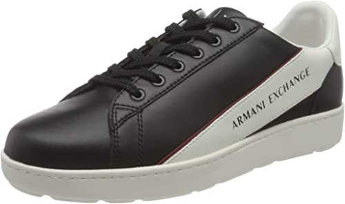 Armani exchange leather plain sneakers da uomo XUX082XV262F012