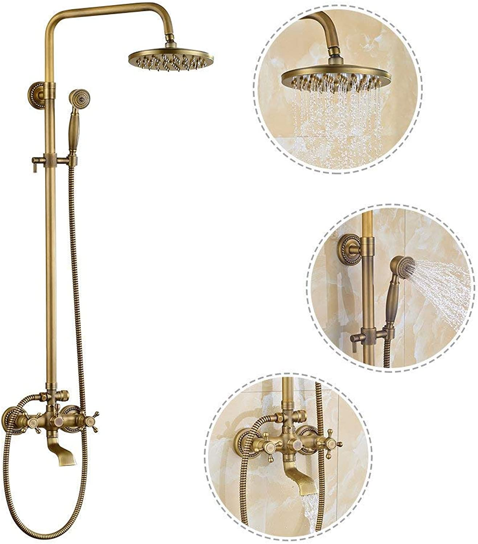 Oliwia Duschset Handbrause Dusche Rotary Lifting Dusche Set Round European Double Controlled Badezimmer Dusche Dusche Set